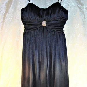 Morgan & Co Dress Midnight Blue Diamond Party